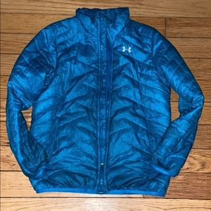 Under Armour Teal Jacket Youth Large
